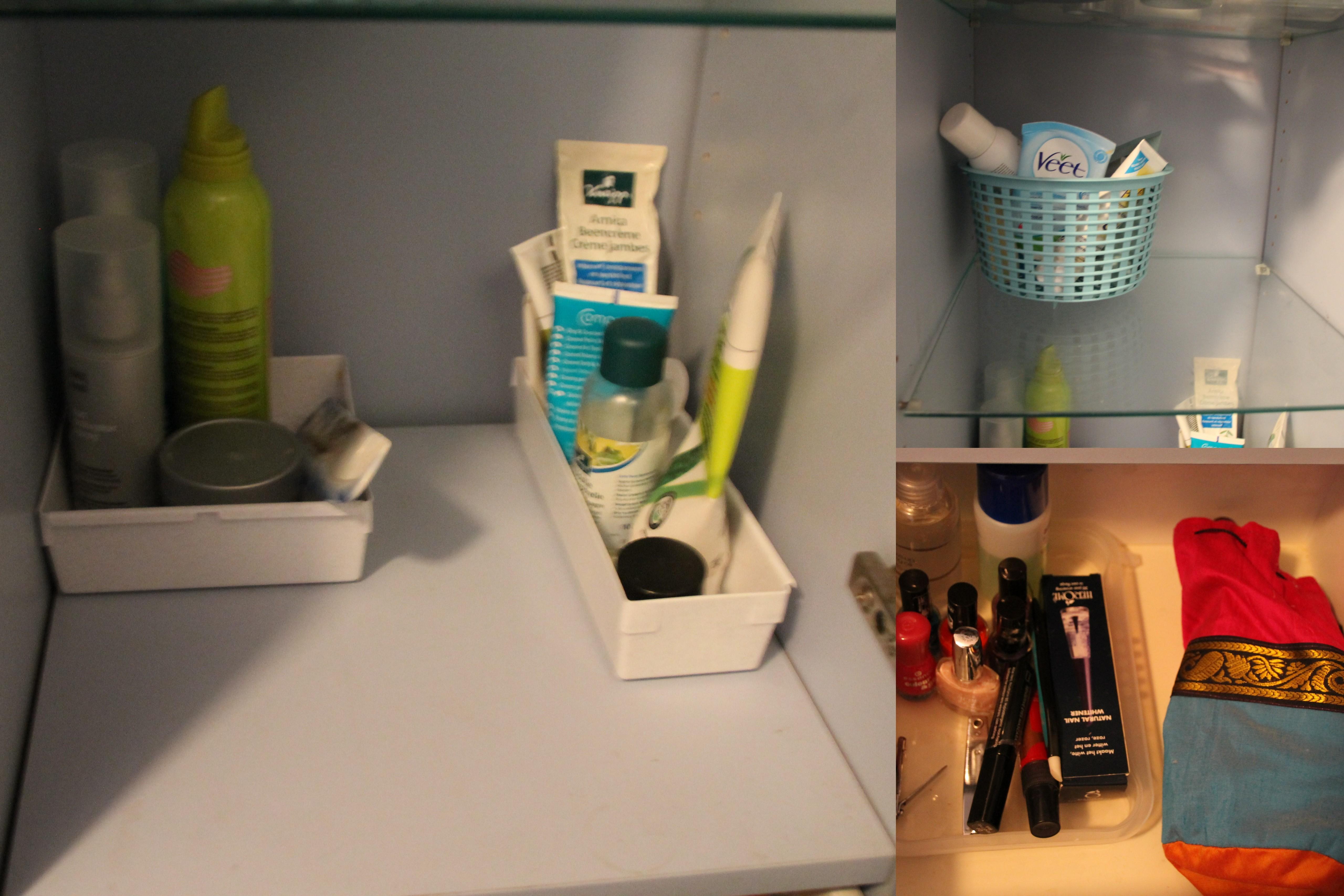 Badkamer Plankje : ... plankje boven de wastafel. Extra voorraad ...